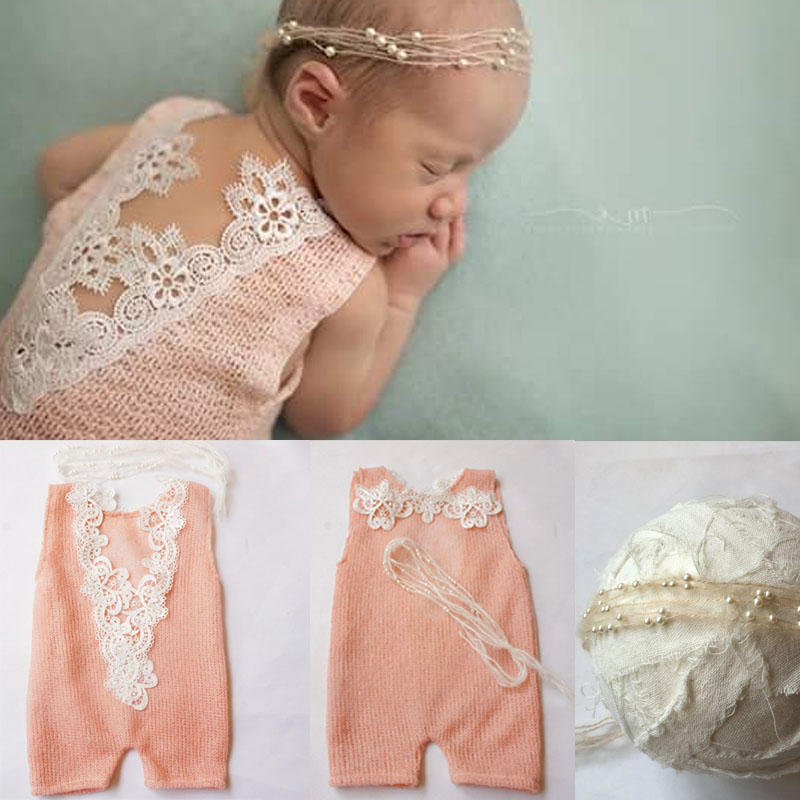 2017 New Lace Romper + Headband Set Newborn Photography Props clothes baby cotton girls romper baby rompers Baby Girl Clothes 2016 baby girls summer clothing sets baby girl romper suits romper tutu skirt headband infant newborn baby clothes baby romper