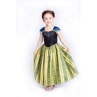 Cheelibaby Girls Dress Cartoon Cosplay Snow Queen Princess Dresses Elsa Dresses Anna Costume Baby Children Clothes