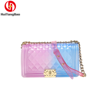 2019 Women Bags Crossbody Shoulder Transparent Clear Bag Jelly Color Candy Handbags Fashion Fairy Party Hand Bag Summer Spring