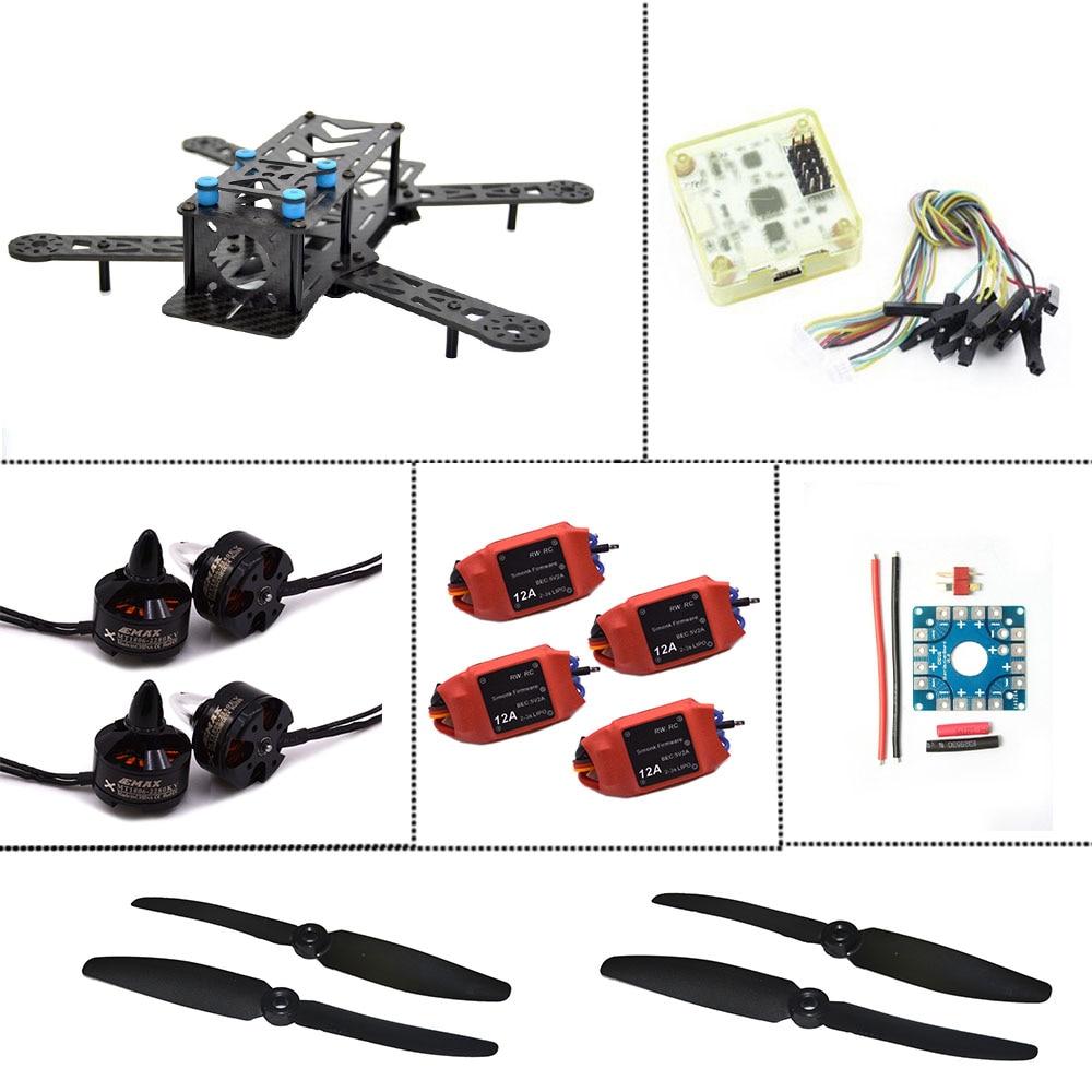 250PRO Carbon Quadcopter Frame Super combo CC3D Flight Controller Motor ESC GR FPV carbon fiber mini qav250 c250 quadcopter frame motor 12a esc cc3d flight control