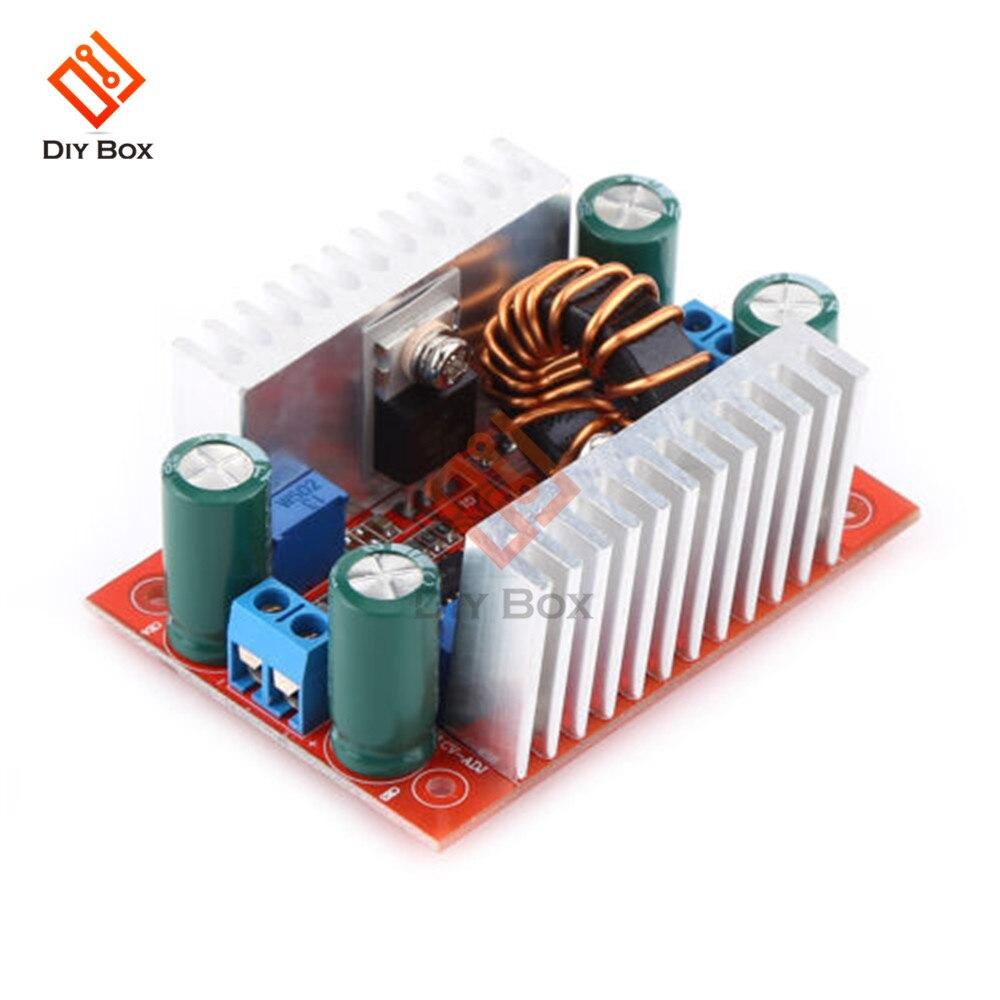 400W 15A DC-DC Boost convertisseur intensifier puissance transformateur alimentation régulateur de tension puissance constante dissipateur de chaleur 8.5 V-50 V à 10-60V