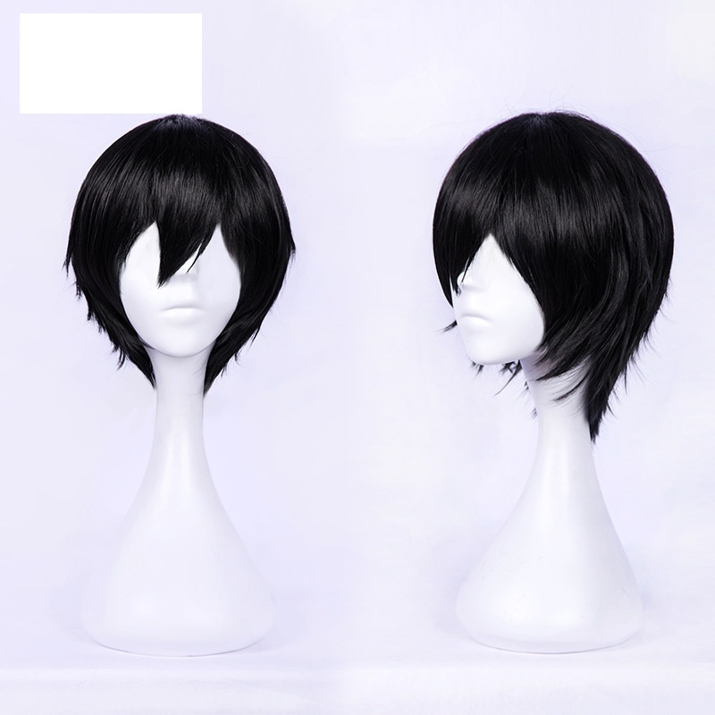 Takerlama New Arrival DARLING in the FRANXX 016 Cosplay Wigs Hiro Wigs Short Black Synthetic Hair Perucas Cosplay Wig