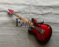Eagle. Butterfly electric guitar, electric bass Custom Shop Red 24 Flame Maple Veneer Left handed PS Electric Guitar in Stock