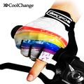 CoolChange Ciclismo Guantes Medio Dedo Hombres Verano de Las Mujeres del Deporte de La Bicicleta MTB Bike Guantes Ciclismo Guantes de Nylon Transpirable