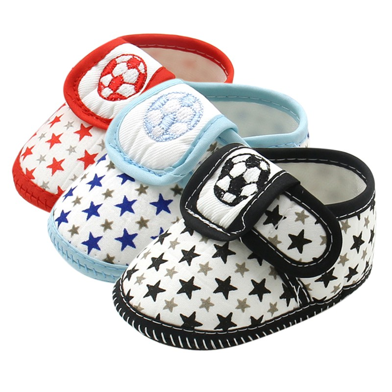 Toddler Infant Baby First Walkers Cute Star Soccer Soft Bottom slip proof Baby Shoes Sneaker Casual Shoes Prewalker 0-12M soft baby boy girl shoes autumn winter cotton infant toddler anti slip first walkers cute slippers prewalker shoes for children