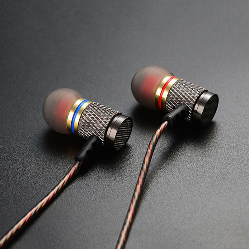 KZ ED2 Metal Earphones With Microphone For Phone Stereo HiFi Professional Headset Bass In Ear Phones