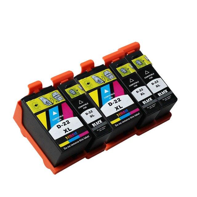 3 noir + 2 couleurs compatibles pour dell 21/22/23/24 cartouche dencre pour dell V313/V313w/V715W/V515w/P513w/P713w imprimante