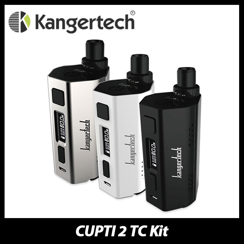 New 80W Kanger CUPTI 2 TC Starter Kit 5ml Tank Capacity with max 80W output with TC Mode Powered by 2x 18650 Battery NO Battery uwell nunchaku 80w tc starter kit