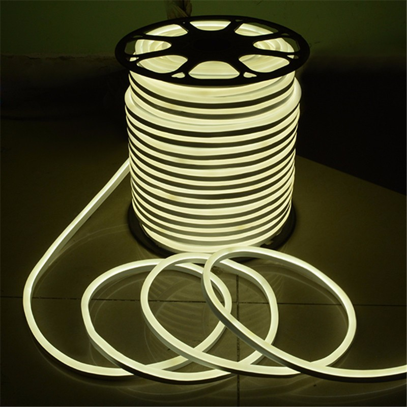 15M 2835 SMD LED Flexible Neon Rope LED Strip Light Christmas Outdoor Waterproof AC110V US Plug