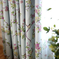 Magpie Printing Semi Blind Window Living Room Gradient European And American Style Flower Screen Style Pastoral