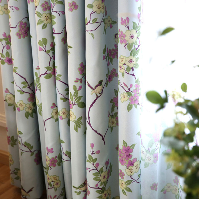 Birds & Floral Ready Made Custom Curtains for Living Room Bedroom Blackout Curtain Shade Blinds Window Treatments 091