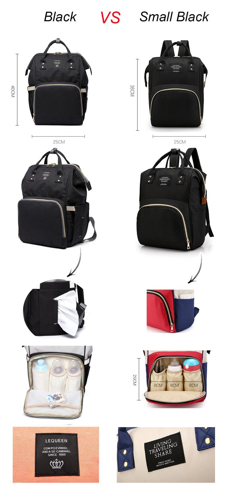 HTB1yRjgcBOD3KVjSZFFq6An9pXac Lequeen Fashion Mummy Maternity Nappy Bag Large Capacity Nappy Bag Travel Backpack Nursing Bag for Baby Care Women's Fashion Bag