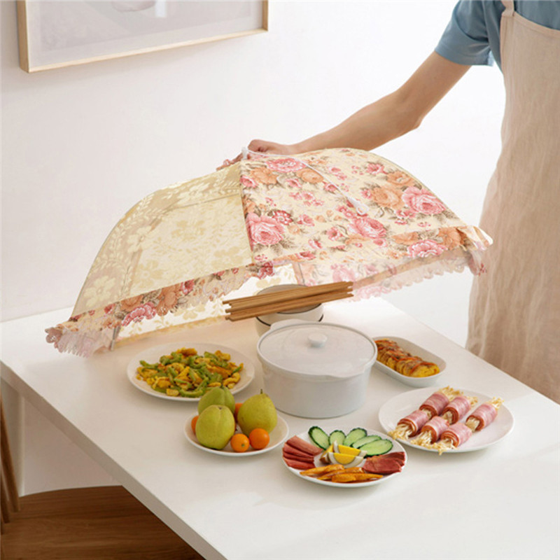 Kitchen Food Umbrella Cover Kitchen Aid Picnic Barbecue Party Fly Mosquito Mesh Net Tent housse table de jardin protection table-in All-Purpose Covers from Home & Garden