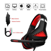 Gaming Headset for PS4 PC Xbox Professional Stereo Gaming Headphone Headset Noise Canceling Mic All Cover Memory Foam Earmuff