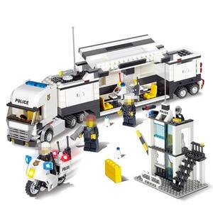Image 1 - 511pcs Police Station Car Truck Building Blocks Bricks Educational Compatible  City Policeman Toys For Children Kids