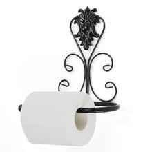 Vintage Iron Toilet rollo de papel toalla titular baño pared montaje Rack DropShip