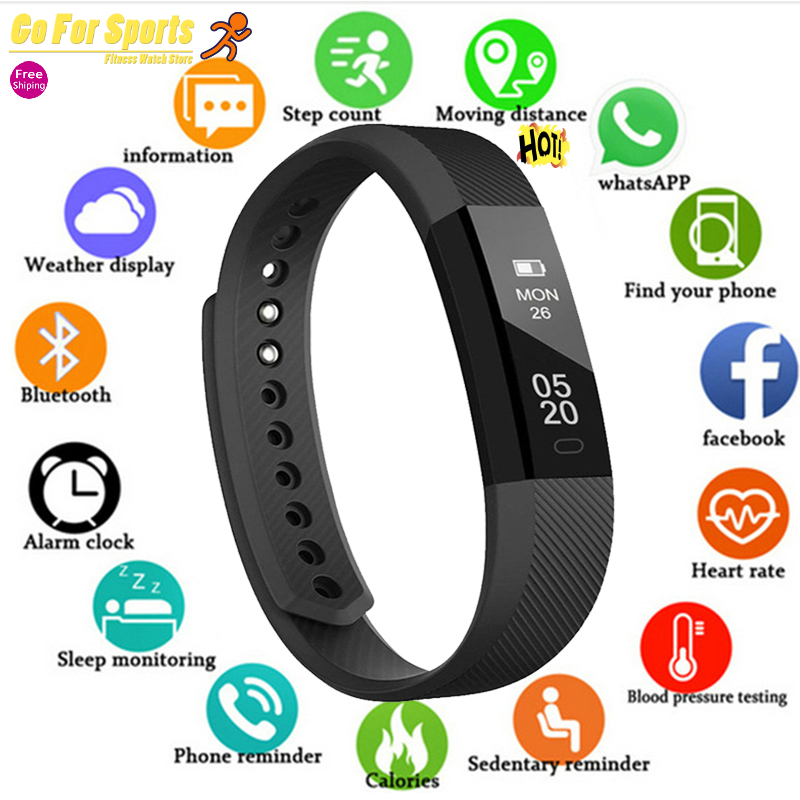 Smart Wristbands Fitness Tracker Smart Bracelet Men Pedometer Bluetooth Smartband Waterproof Sleep Monitor WristWatch PK Fitbits image