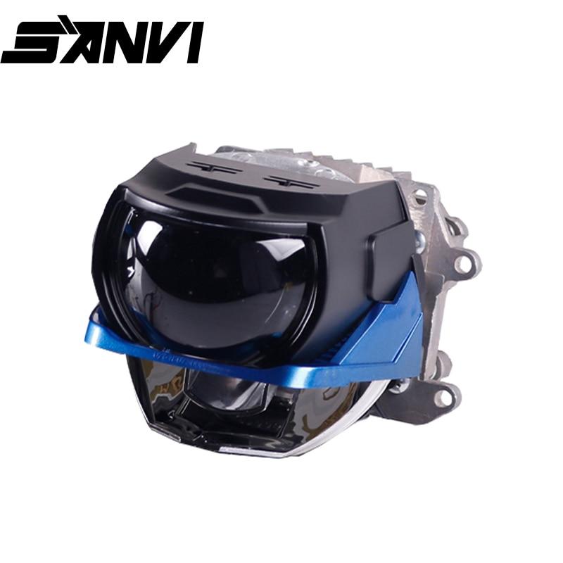 Sanvi 2.5inch L62 Bi LED Projector Lens Headlight 45W 6000K Laser Car Headlight Car Light Retrofit