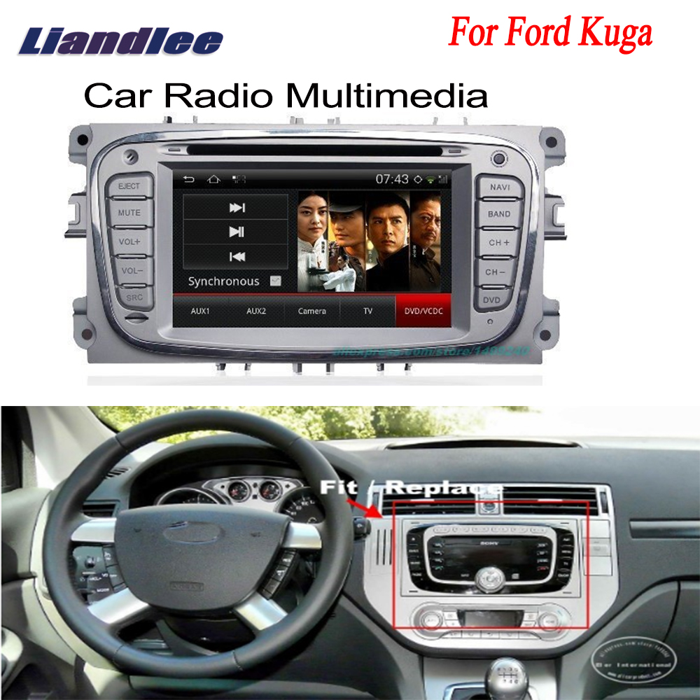 Liandlee For Ford Kuga 2008~2012 2 din Car Android GPS Navi Navigation Radio TV CD DVD Player Audio Video Stereo OBD2