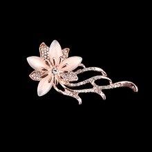 High Quality Fashion Gold Color Alloy Flower Bouquet Brooch Elegant Wedding Bridal Gift Hot Sale