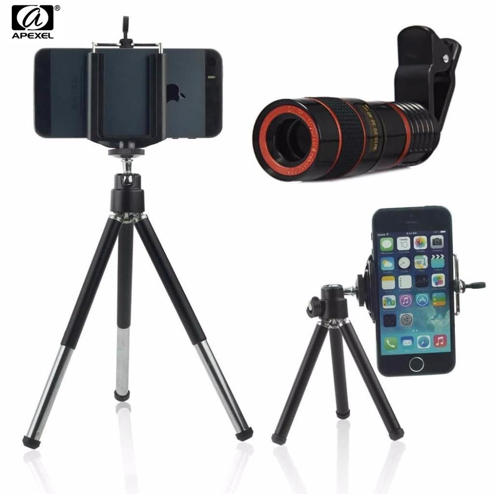 Mobile Téléphone Téléobjectif 8x Zoom Optique Télescope Lentilles de Caméra avec Mini Trépied Téléphone holde pour iPhone Samsung sur-clip