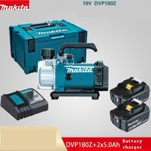 Makita Ladegerät Vakuumpumpe Labor Kühlschrank Klimaanlage Vakuum DVP180 Rotary Disk Pumpe mit 2x5. 0Ah Lithium-Batterie(China)