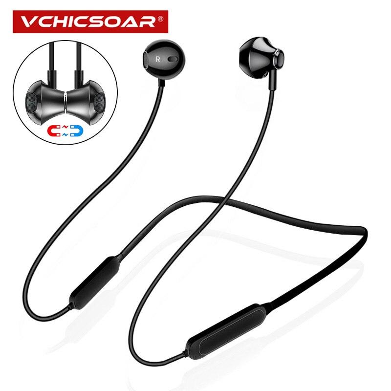 Vchicsoar Bluetooth Kopfhörer Sport Drahtlose Kopfhörer Stereo Bass Magnetische Bluetooth 4,2 Earbuds mit Mic für iPhone xiaomi