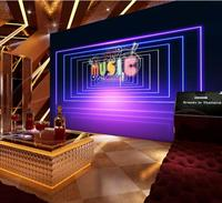 Personality Wall Mural Wallpaper Painting Ktv music space dazzling purple 3D laser light background wall Custom Photo Wallpaper