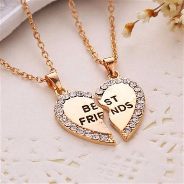Best Friend Gift Heart Gold...