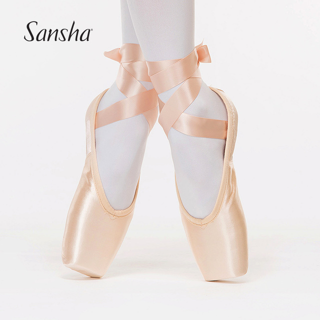 1752f2b5c69b Sansha Adult Professional Satin Ballet Dance Pointe Shoes D Series Leather  Outsole D100