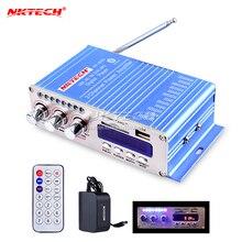 Hy502s Bluetooth coche Amplificadores estéreo modo de sonido HIFI 2 canales mini digital FM Audio + MP3 altavoz reproductor de música + cargador