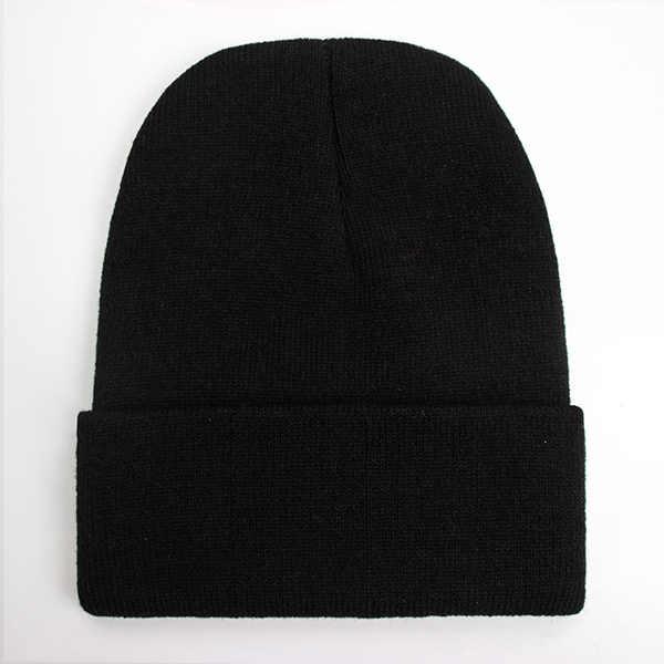 2019 chapéus de inverno para a mulher nova beanies malha sólida bonito chapéu meninas outono feminino gorro bonnet mais quente senhoras casual boné