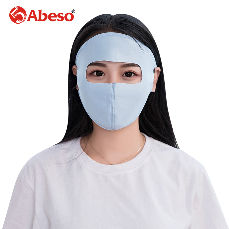 Abeso Sun Protection Mask Summer Ice Silk Cooling Breathable Full Face Mask For Motorcycle Riding Outdoor UV Blocking Mask A7339