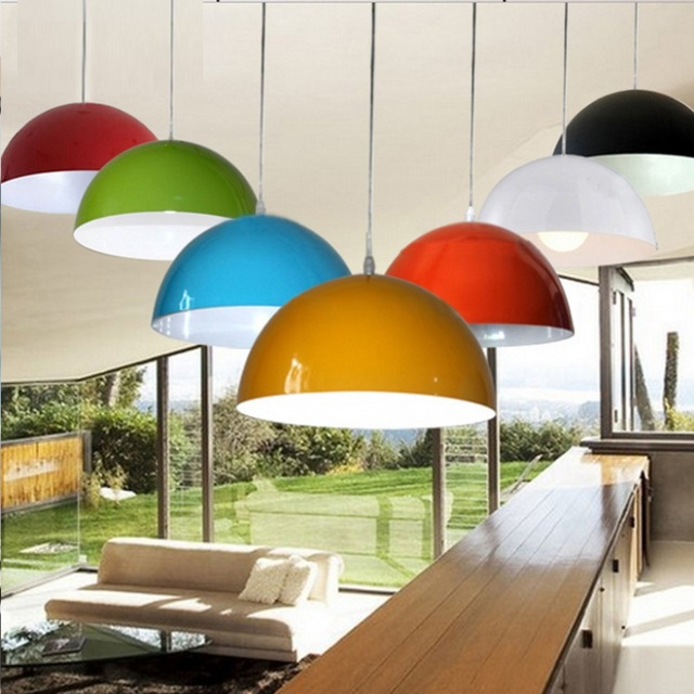 90 260v e27 300x150mm half dome pendant lights for home lighting 90 260v e27 300x150mm half dome pendant lights for home lighting modern hanging lamp aluminium aloadofball Images