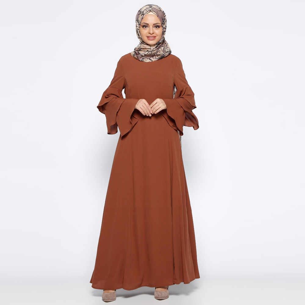 Мусульманский Для женщин кружевной отделкой спереди Абаи мусульманское Макси турецкий элегантный исламский мусульманский в этническом китайском стиле с вышивкой восточный женский халат Clothing330