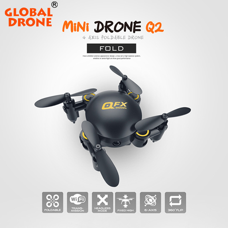 Global Drone Professional Nano Pocket Dron Mini Foldable Selfie RC Helicopter Drones can carry with 720P Wifi FPV Camera