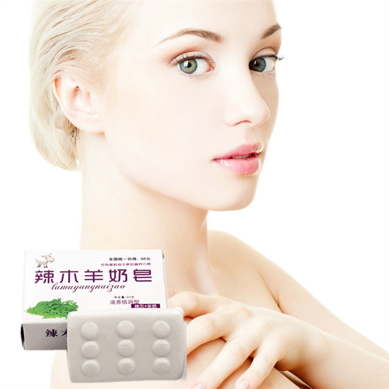 40g/pcs Milk + Coconut Oil Handmade Soap For Skin Care Natural Skin Whitening Blackhead Remover Acne Treatment Oil Control Soap