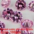 Suministros De Joyería 100 unids 5mm AAA Grado Cubic Zirconia Beads Glitter Ronda Pointback Piedras 3D Nail Art Design DIY Decoraciones