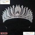 Новая Мода Невеста Свадебный Венец Посеребренная Павлин Невесты Хрустальная Корона Большой Королева Корона Свадебные Прически Аксессуары HG-G055