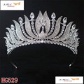 New Fashion Bride Wedding Crown Silver Plated Peacock Bride Crystal Crown Large Queen Crown Wedding Hair Accessories HG-G055