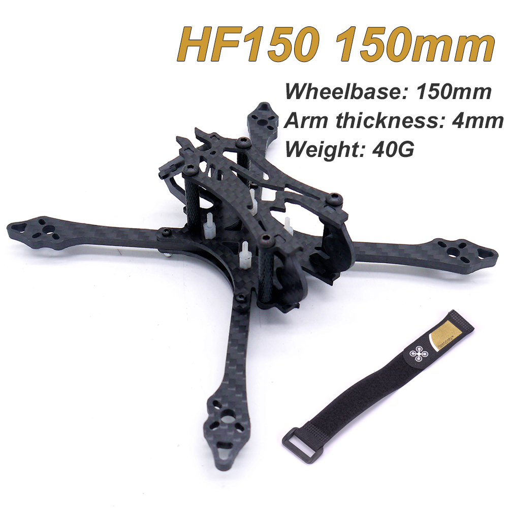 Micro Mini 3 polegada HF150 150 milímetros 150 Fibra De Carbono Quadro com 4 milímetros braços Suporte 1306 FPV motor de Corrida quadcopter FPV Zangão