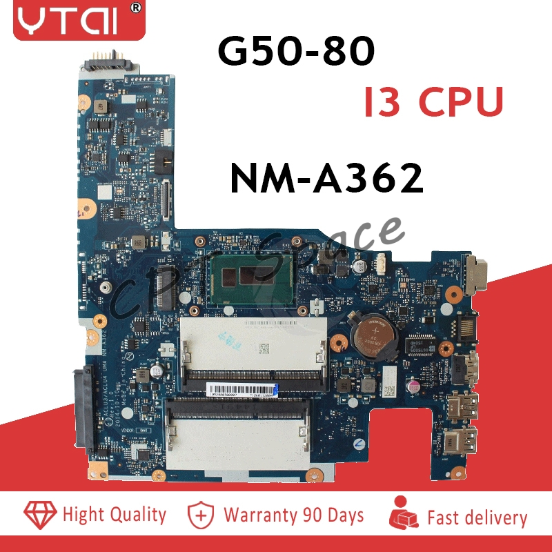 CLU3/ACLU4 UMA NM-A362 Main Board Fit For Lenovo G50-80 Laptop Motherboard With I3CPU Free shippingCLU3/ACLU4 UMA NM-A362 Main Board Fit For Lenovo G50-80 Laptop Motherboard With I3CPU Free shipping