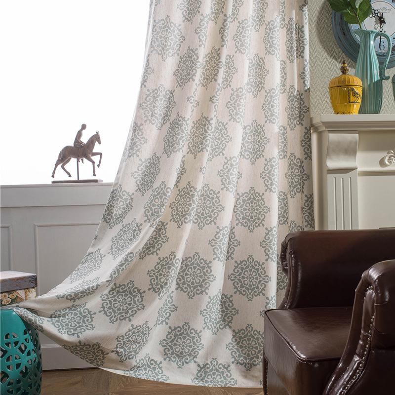 lento el alma de caf azul gris beige algodn impreso tangyun cortinas cortinas cortina de la