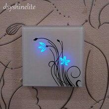 Neue Qualität Wand Schalter Touch Panel Sensor Schalter für Lampen Home Hotel Elegante Schöne AUF/OFF Lampe Swith Russische UK Beliebte