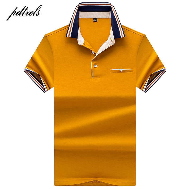 HOT High Quality Tops&Tees Men's   Polo   shirts Business men brands   Polo   Shirts 3D embroidery Turn-down collar mens   polo   shirt 7176