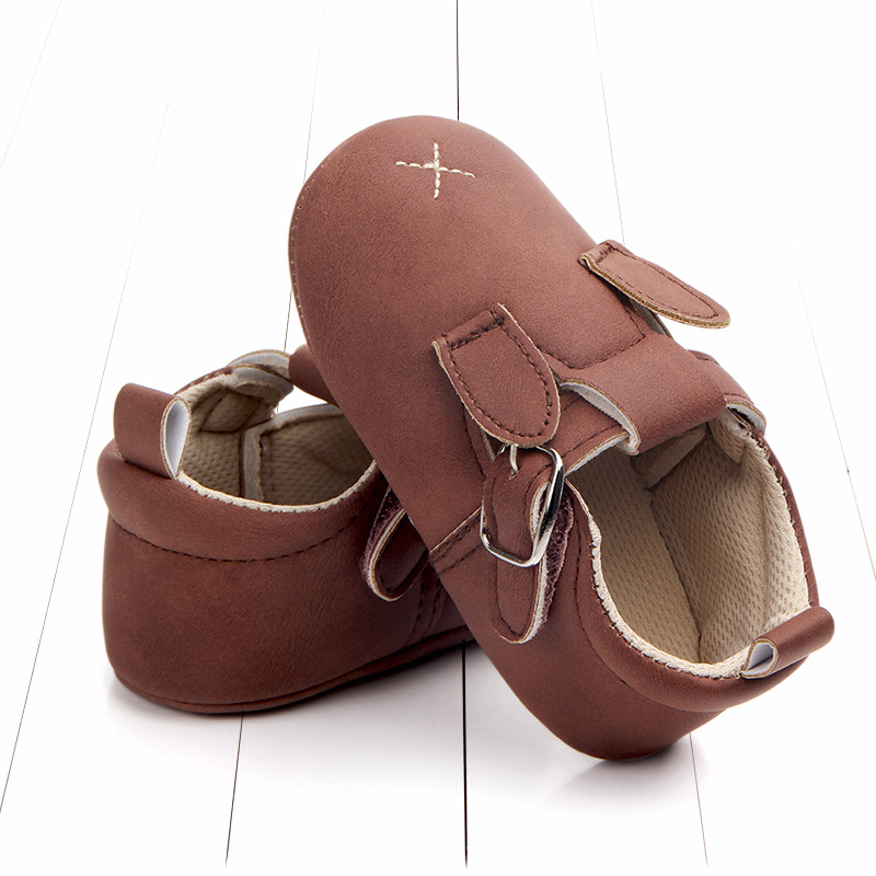 Baby First Walkers Matte leather Shoes for Baby Girl Boy Cartoon Animal Newborn Slippers Footwear Booties Kids Gift Child Shoes (33)