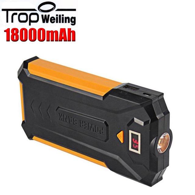 Tropweiling Pantalla Digital Con 3 USB 3 W Lámpara LED 18650 banco de la Energía 18000 mAH Batería Externa PowerBank Portátil cargador