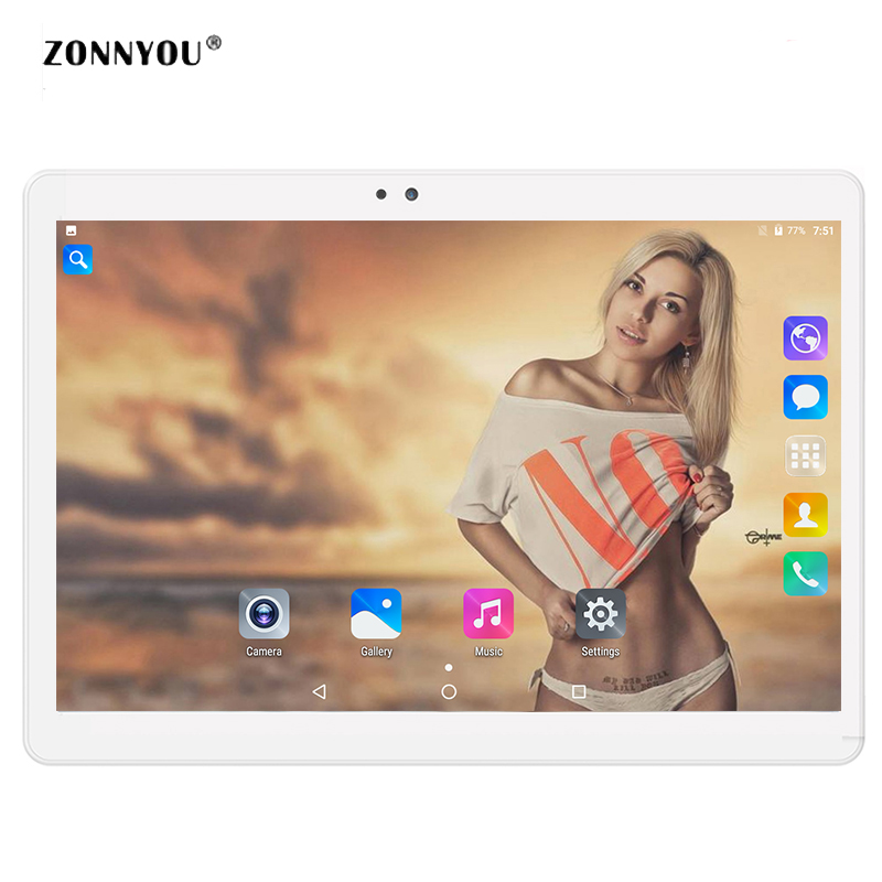 10.1 Tablet PC Android 7.0 3g Appel LTE OCTA core 4 gb RAM 32 gb ROM Wi-Fi Bluetooth GPS HD IPS Comprimés 10.1 10 pc