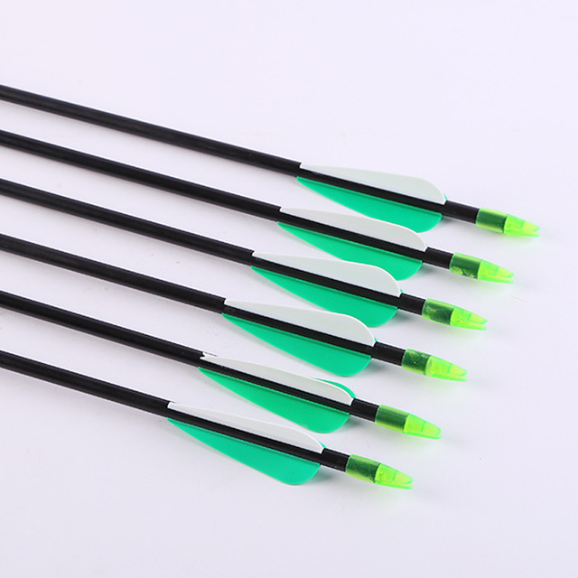 US $9 49 5% OFF|6/12/24 Pcs Length 79cm Spine 600 Fiberglass Arrow For  Recurve Bow Longbow Hunting Archery Shooting-in Darts from Sports &