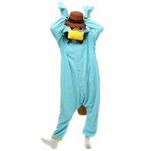 ملابس نوم للجنسين من Perry the Platypus ملابس بيجاما تنكري على شكل وحش بيجاما للكبار ملابس نوم على شكل حيوانات بذلة